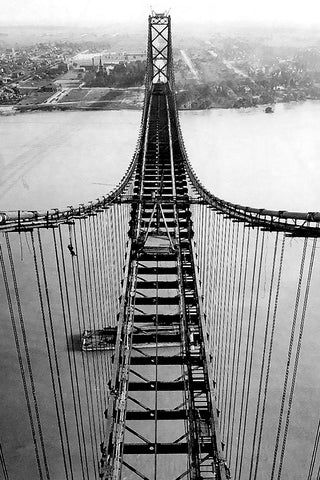 View of The Building of the Ambassador Bridge (1927)