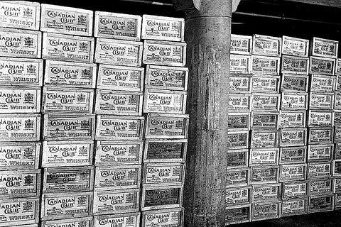 Vintage Canadian Club Cases Stacked (1920) - Walkerville
