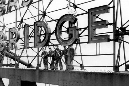 Workers On The Ambassador Bridge (1953)