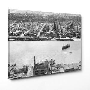 Windsor Skyline From The Guardian Building in Detroit (1935) - Canvas Print - Windsor Prints