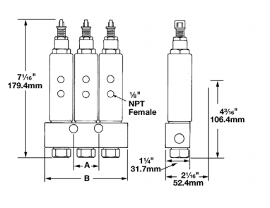 83749-3 | Centro-Matic SL-44 Series Oil Injector Assembly