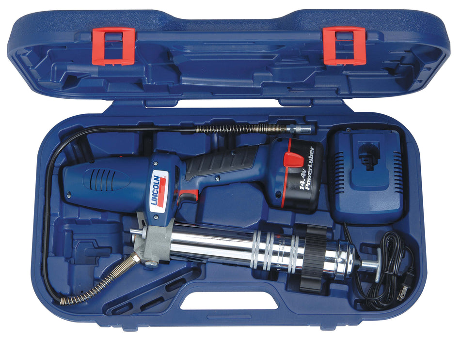 1442  |  2-Speed 14.4 V NiCad PowerLuber Battery-Operated Grease Gun with Case