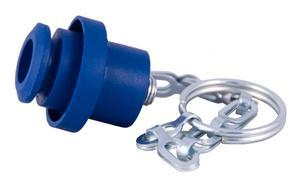 "S44-3  |  3/8"" Molded Rubber Dust Plug with Chain"