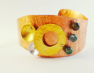 Circles of Life Bracelet with Guatemalan Jade
