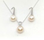 Sea water Pearl Earrings and Necklace Set