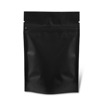 1kg Black Stand Up Pouch With Seal