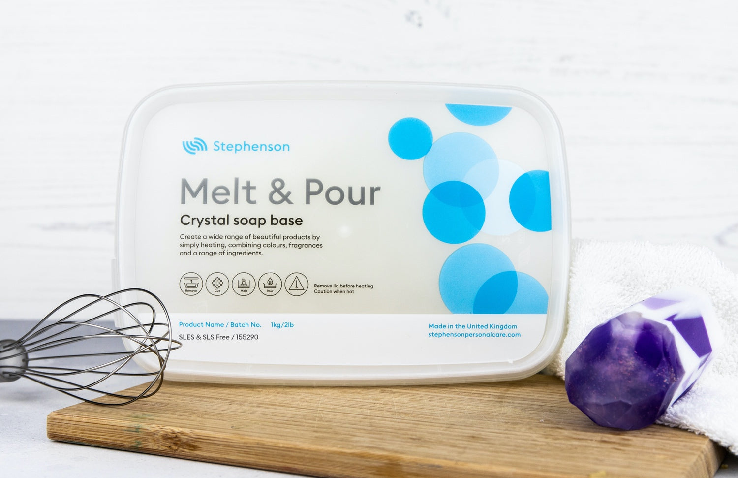 Melt & Pour Crystal SLES & SLS Free - Clear Soap Base