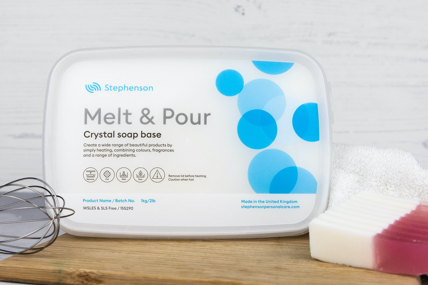 Melt & Pour Crystal WSLES & SLS Free - White Soap Base