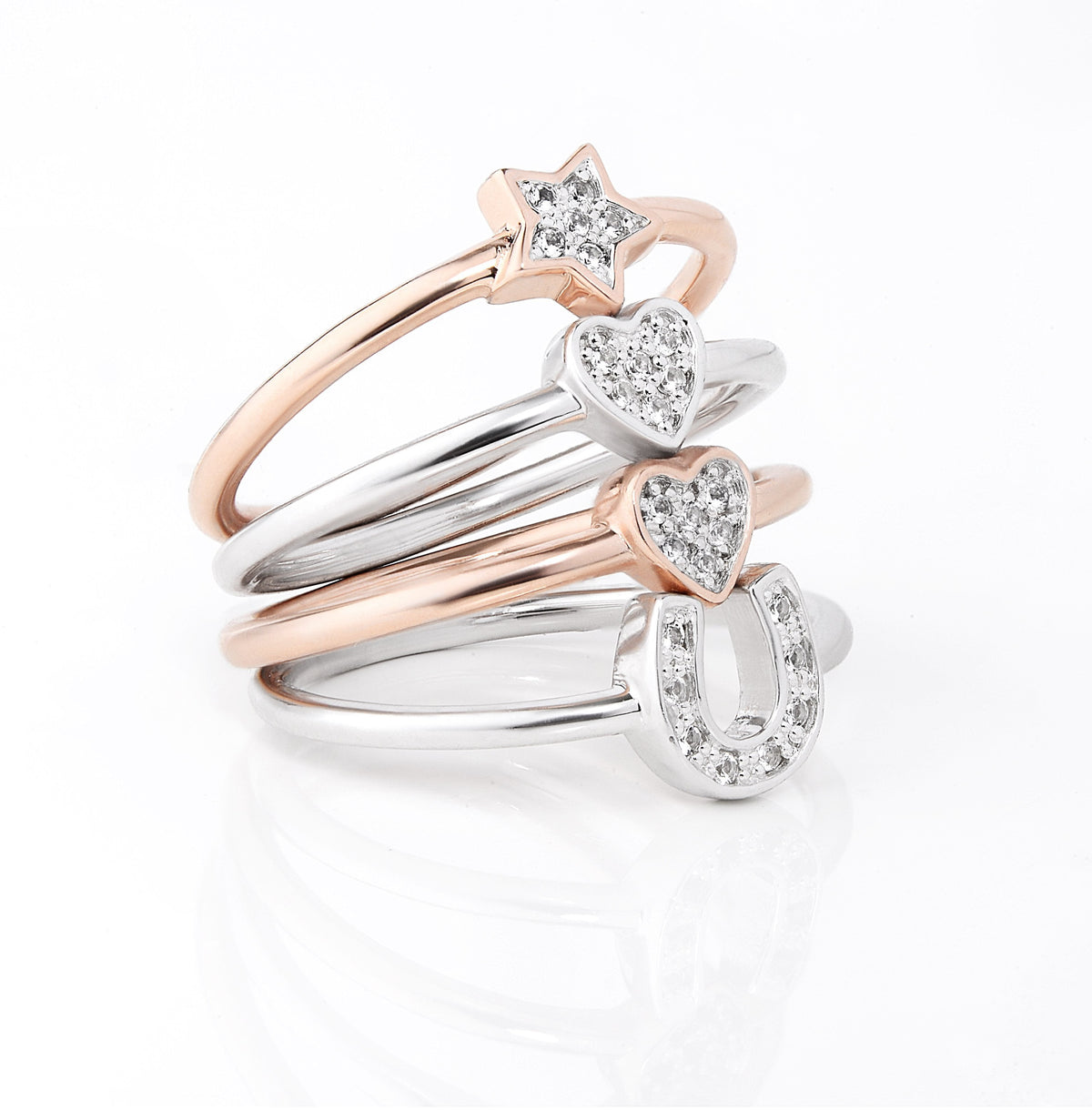 Grace Rose Horseshoe Ring