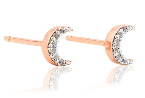 Grace Rose Moon Studs