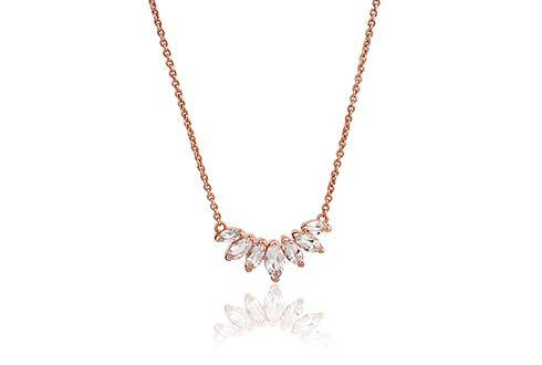 Eve Rose Cluster Necklace