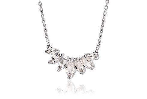 Eve Silver Cluster Necklace