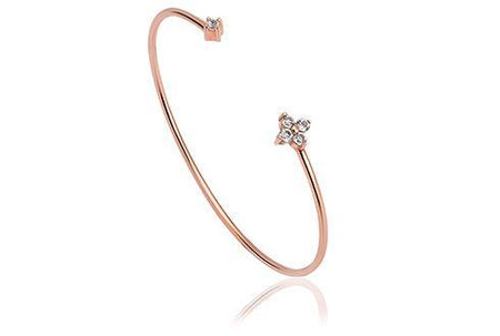 Grace Rose Heart Bangle