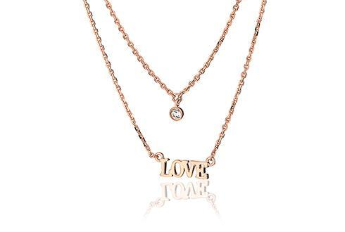 Vibes Rose LOVE Layered Necklace