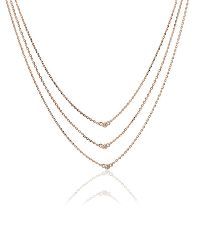 Megan Trilogy layered Necklace
