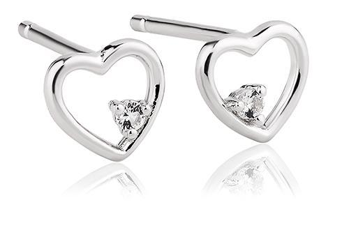 Faith Heart Stud Earrings