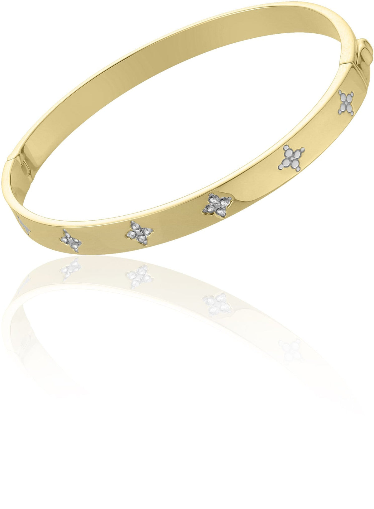 Fleur Hinged Bangle