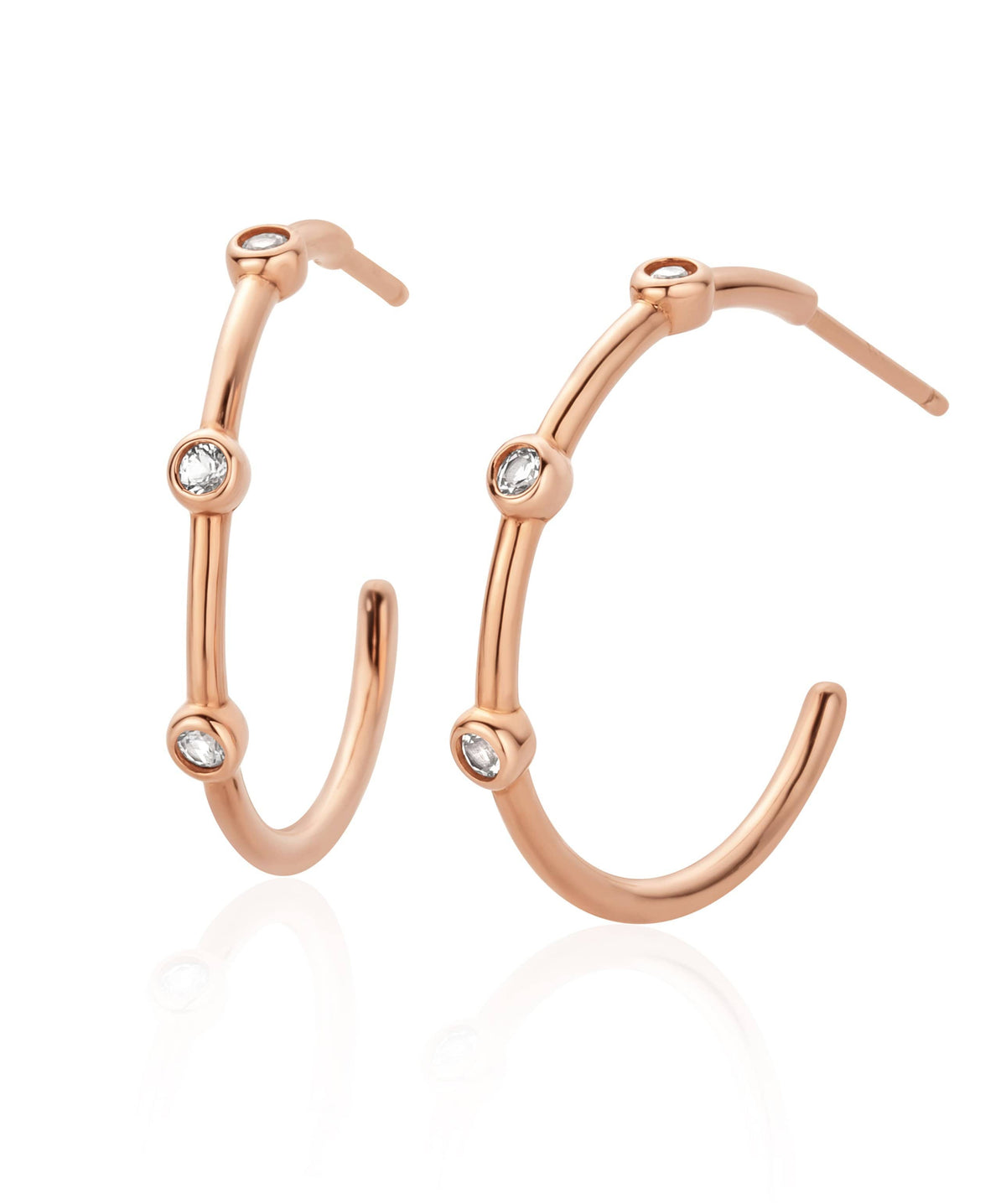 Megan Midi Hoop Earrings
