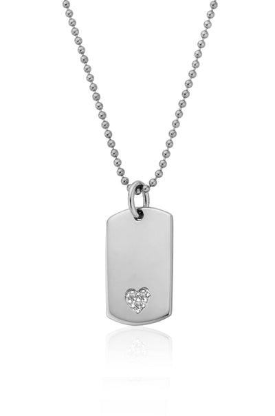 Grace Heart Tag Pendant