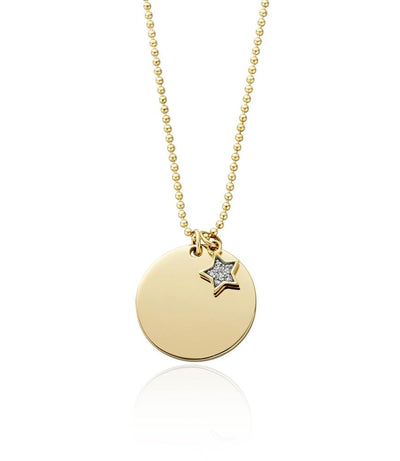 Grace Disc Pendant with Star charm