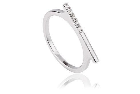 Kara Silver Bar Ring