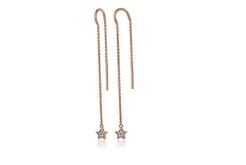 Grace Rose Drop Star Earrings