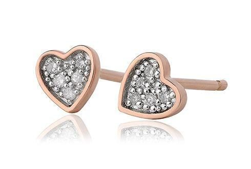 Grace Rose Heart Stud Earrings
