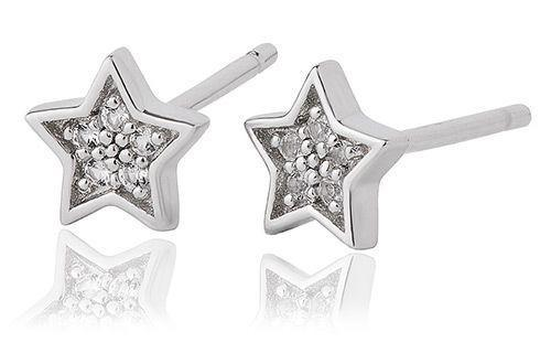 Grace Silver Star Stud Earrings