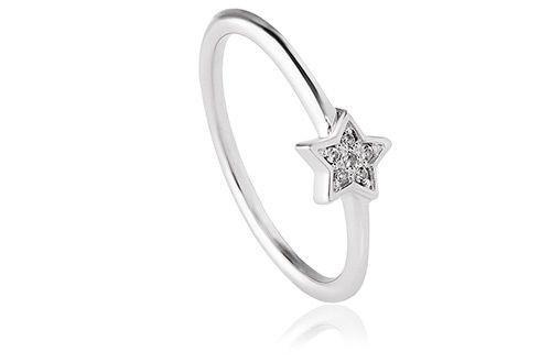 Grace Silver Star Ring