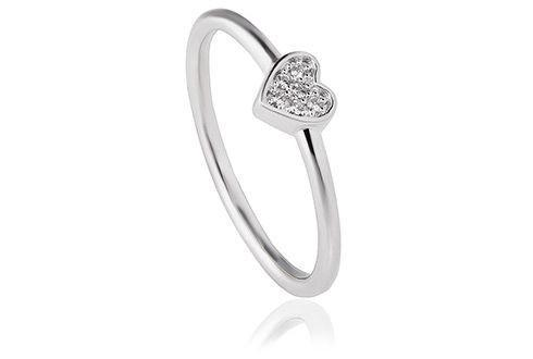 Grace Silver Heart Ring