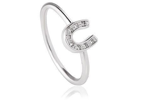 Grace Silver Horseshoe Ring