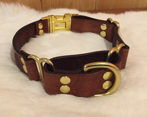 Personalized Martingale Dog Collar With Quick-Release Buckle