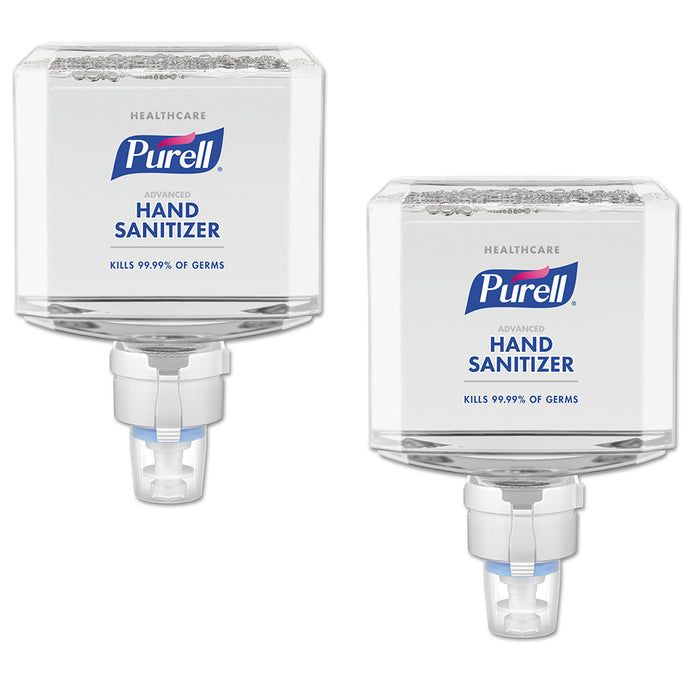 Purell Healthcare Advanced Hand Sanitizer Foam, 1200 mL, Cranberry Scent, For ES8 Dispensers, 2 Bottles
