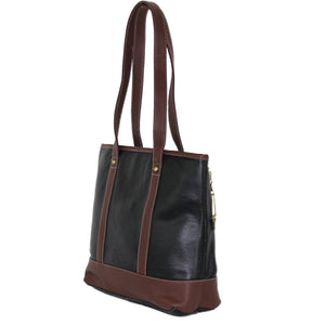 Concealed Carry Tote - Double-Handled Shoulder Leather Tote