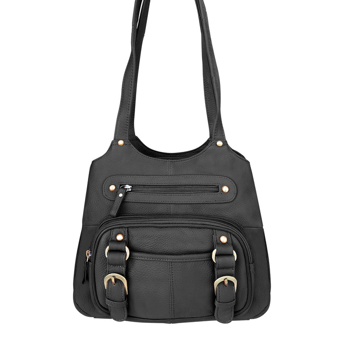 Leather CCW Shoulder Bag - Large Shoulder Straps