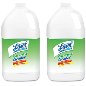 Lysol Pine Action Cleaner Concentrate, 1 Gallon, 2 Bottles