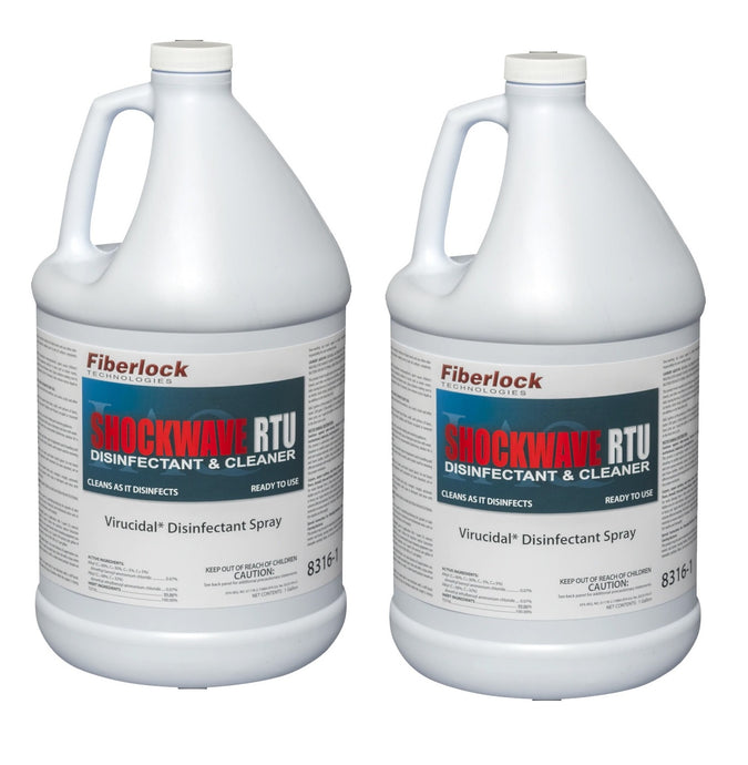 Fiberlock Shockwave Ready to Use (RTU) Disinfectant, 1 Gallon, 2 Bottles