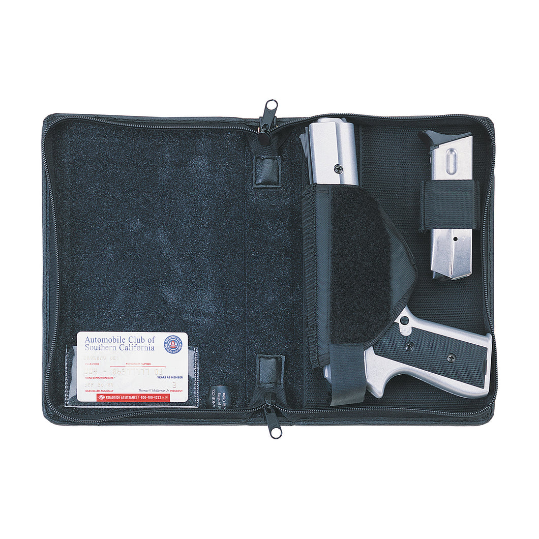 Leather Concealed Carry Locking Organizer