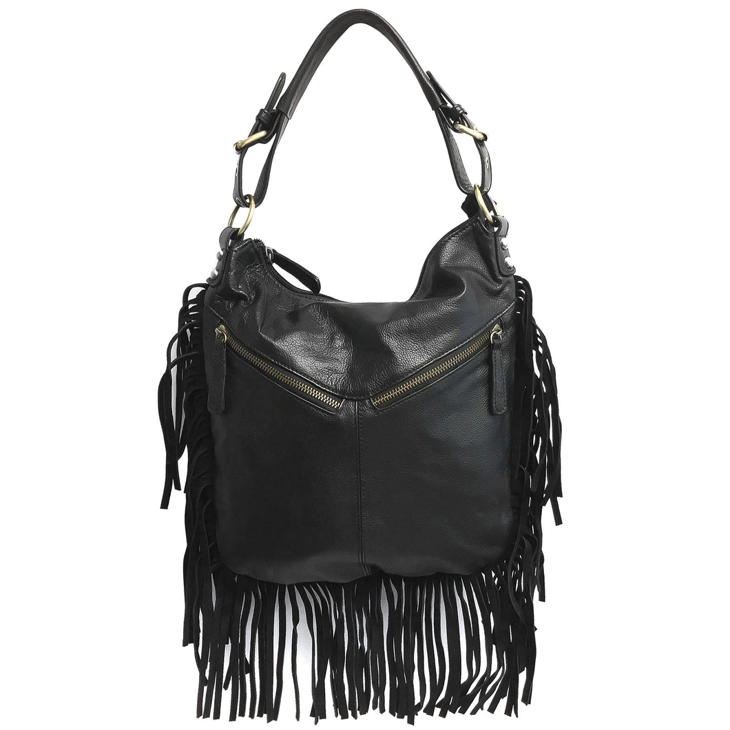 Genuine Leather Fringe Collection, Locking CCW Purse