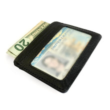 Genuine Leather Money Clip with Credit Card Slots and ID Slot Window Credit Card Holder Card Wallet