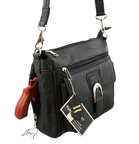 Compact Crossbody Locking Concealed Carry Purse