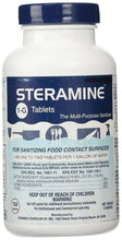 Steramine Sanitizing Tablets - Sanitize Surfaces, 150 Tablets, 1 Bottle