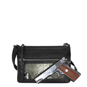 Crossbody Leather Concealed Carry Holster Purse