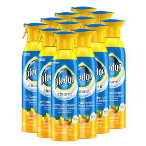 Pledge Multi-Surface Antibacterial Cleaner, Citrus, 12-Pack