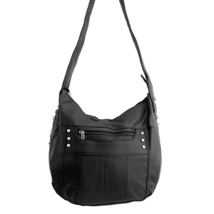 Leather CCW Hobo Purse with Locking Concealment
