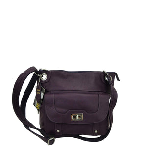 Concealed Carry Crossbody Leather Purse - Locking Zipper