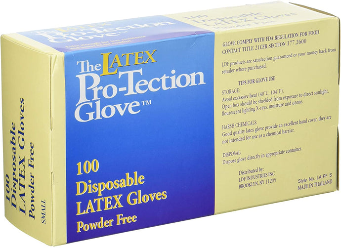 Comfitwear Disposable Latex Gloves, Powder Free, Small, 100 Count, 5 Boxes