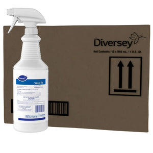 Diversey Virex TB Disinfectant Cleaner, Lemon, 32-oz, 12 Bottles