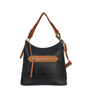 Stylish Leather Locking Concealed Carry Crossbody Purse