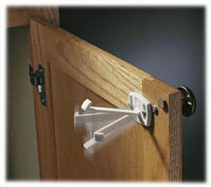 Swivel Cabinet & Drawer Lock - 4pk